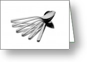 Kitchen Ware Greeting Cards - Spoon Fan Greeting Card by Gert Lavsen
