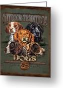 Sporting Greeting Cards - Sporting Dog Traditions Greeting Card by JQ Licensing