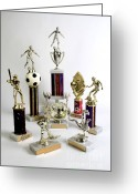 Award Greeting Cards - Sports Trophies Greeting Card by Photo Researchers