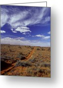 Arid Country Greeting Cards - Sports Utility Vehicle Parallel Wheel Greeting Card by Jason Edwards
