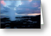 Horn Greeting Cards - Spouting Horn Sunset Greeting Card by Mike  Dawson