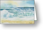 Spume Greeting Cards - Spray  Greeting Card by Thomas Habermann