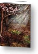 Seasonal Greeting Cards - Spring - A Sign of Spring Greeting Card by Mike Savad