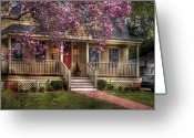 Home Greeting Cards - Spring - Door - Vacation House Greeting Card by Mike Savad