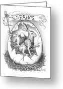 Paper Images Greeting Cards - Spring Arrives Greeting Card by Adam Zebediah Joseph
