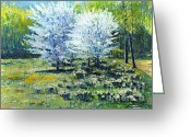 Baden-baden Greeting Cards - Spring Baden-Baden  Greeting Card by Yuriy  Shevchuk