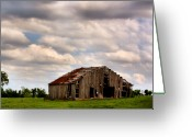Colorful Photography Greeting Cards - Spring Barn Greeting Card by Karen M Scovill
