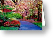 Central Painting Greeting Cards - Spring Blossoms Greeting Card by David Lloyd Glover