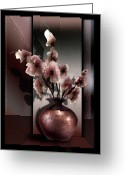 Still Life Greeting Card Greeting Cards - Spring Blossoms Greeting Card by Gina Femrite