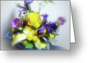 Indiana Flowers Greeting Cards - Spring Bouquet Greeting Card by Sandy Keeton