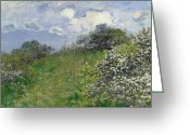 Signature Greeting Cards - Spring Greeting Card by Claude Monet