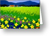 Acrylic Print Greeting Cards - Spring Daffs Ireland Greeting Card by John  Nolan