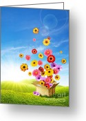 Delivery Greeting Cards - Spring Delivery 2 Greeting Card by Carlos Caetano