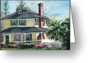 Catonsville Greeting Cards - Spring Greeting Card by Edward Williams