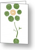 Gardening Drawings Greeting Cards - Spring Flower Greeting Card by Frank Tschakert