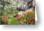 Featured Artist Painting Greeting Cards - Spring Forest Vision Greeting Card by David Lloyd Glover