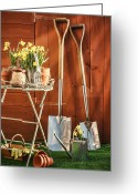 Garden Pots Greeting Cards - Spring Gardening Greeting Card by Christopher Elwell and Amanda Haselock