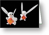 Gung Hei Faat Choi Greeting Cards - Spring Has Come Happiness Has Come 01 Greeting Card by Taketo Takahashi