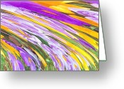 Purples Greeting Cards - Spring Has Sprung Greeting Card by Deborah MacQuarrie