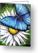 Antennae Painting Greeting Cards - Spring Has Sprung Greeting Card by Shana Rowe