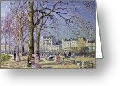 Restful Greeting Cards - Spring in Hyde Park Greeting Card by Alice Taite Fanner