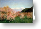 Europe Painting Greeting Cards - Spring in Italy Greeting Card by Isaak Ilyich Levitan