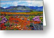 African Mountain Greeting Cards - Spring in Namaqualand Greeting Card by Michael Durst