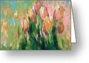 Expressionism Greeting Cards - Spring in unison Greeting Card by Anastasija Kraineva