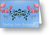 Bouquet Of Roses Greeting Cards - Spring into Summer Greeting Card by Kaye Menner