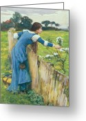 John William Waterhouse Greeting Cards - Spring Greeting Card by John William Waterhouse