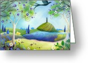 Tor Painting Greeting Cards - Spring Light Greeting Card by Amanda Clark