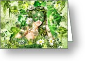 Jewels Digital Art Greeting Cards - Spring Greeting Card by Mo T