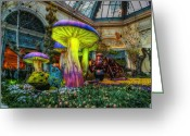 Conservatory Photo Greeting Cards - Spring Mushrooms Greeting Card by Stephen Campbell