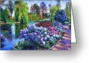 Spring Florals Greeting Cards - Spring Park Greeting Card by David Lloyd Glover