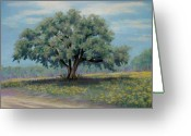 Oak Pastels Greeting Cards - Spring Greeting Card by Pat Neely