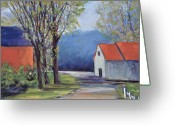 Setting Pastels Greeting Cards - Spring Path Greeting Card by Joyce A Guariglia