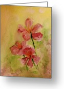 Flower Photographs Painting Greeting Cards - Spring please Greeting Card by Julie Lueders