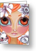 Apricot Painting Greeting Cards - Spring Princess Greeting Card by Jaz Higgins