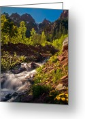 Colorado Photographers Greeting Cards - Spring Run Off Greeting Card by Paul Gana