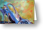 Art Online Greeting Cards - Spring Shoes Greeting Card by Penelope Moore