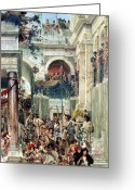 Ancient Rome Greeting Cards - Spring Greeting Card by Sir Lawrence Alma-Tadema
