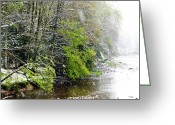 Williams Greeting Cards - Spring Snow Williams River Greeting Card by Thomas R Fletcher