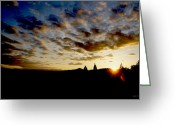 Alto Cumulus Greeting Cards - Spring Sunset over Grants Pass Greeting Card by Mick Anderson