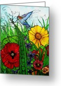 Pod Mixed Media Greeting Cards - Spring Things Greeting Card by Carrie Jackson