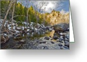 Colorado Greeting Cards Greeting Cards - Spring Time on the Saint Vrain River Greeting Card by James Steele