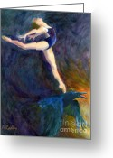 Ballet Greeting Cards - Spring to Heaven Greeting Card by Ann Radley