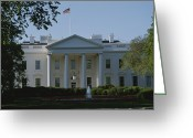Spring Scenes Greeting Cards - Spring View Of The White House Greeting Card by Stephen St. John