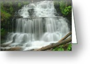 Wagner Greeting Cards - Spring Wagner Falls Greeting Card by Dean Pennala