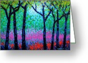 Giclees Greeting Cards - Spring Woodland Greeting Card by John  Nolan
