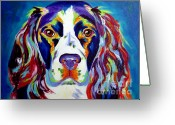 Dawgart Greeting Cards - Springer Spaniel - Cassie Greeting Card by Alicia VanNoy Call